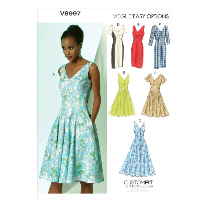 Vogue Misses' Dress Pattern V8997 Size A50