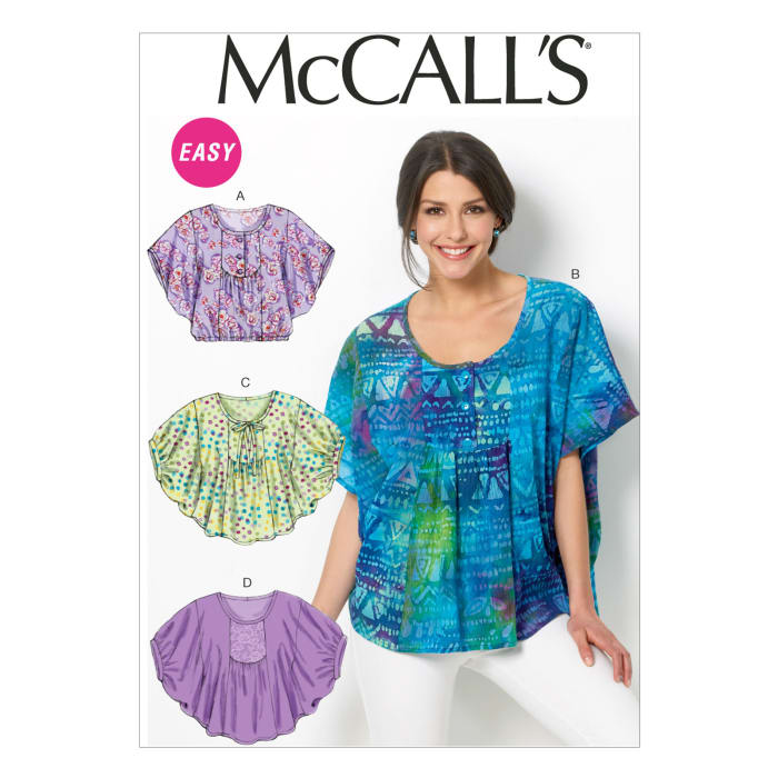 McCall's Misses' Tops Pattern M6962 Size 0Y0