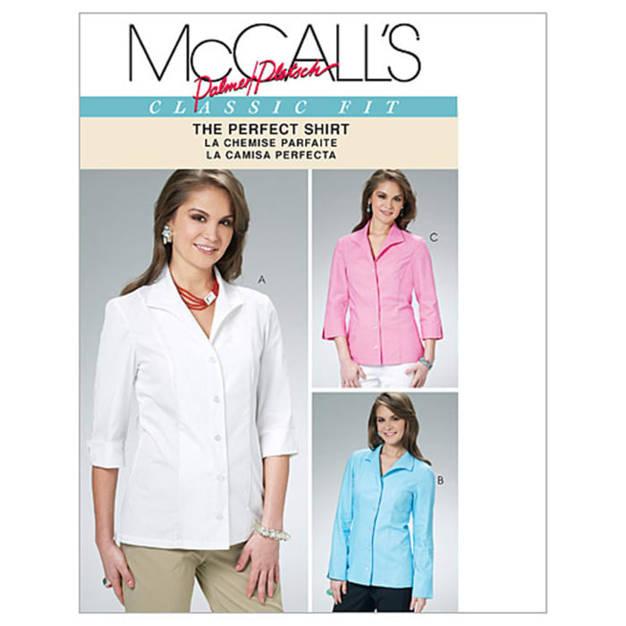 McCall's Misses' Shirts Pattern M6076 Size BB0