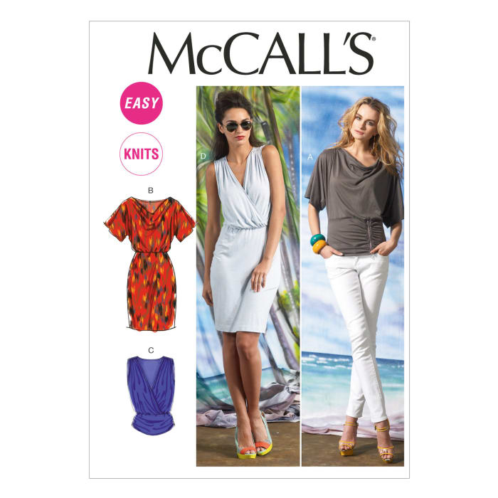 McCall's Misses' Tops and Dress Pattern M6752 Size A50