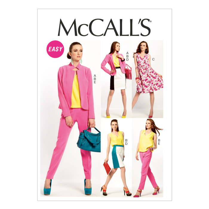 McCall's Misses' Lined Jacket, Top, Dress, Lined Skirt, and Pants Pattern M6711 Size A50
