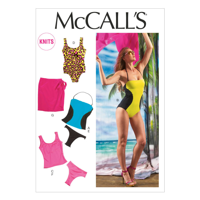 McCall's Misses' Swimsuits and Cover-Up Pattern M6759 Size A50