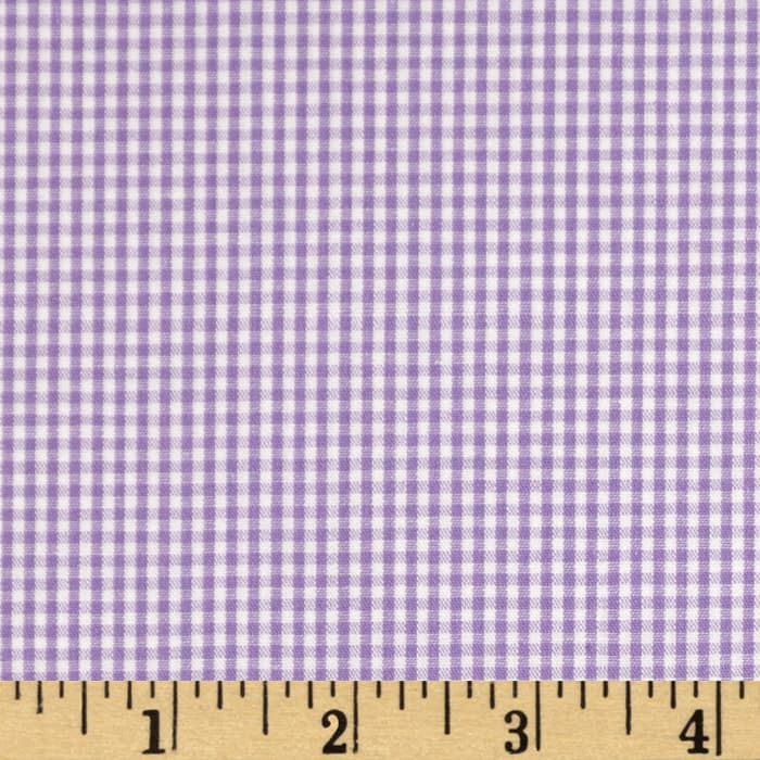 Wide Width 1/16 in.Gingham Check Purple