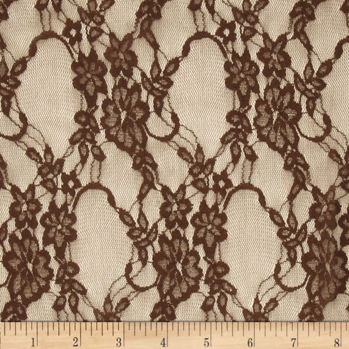 Stretch Lace Brown