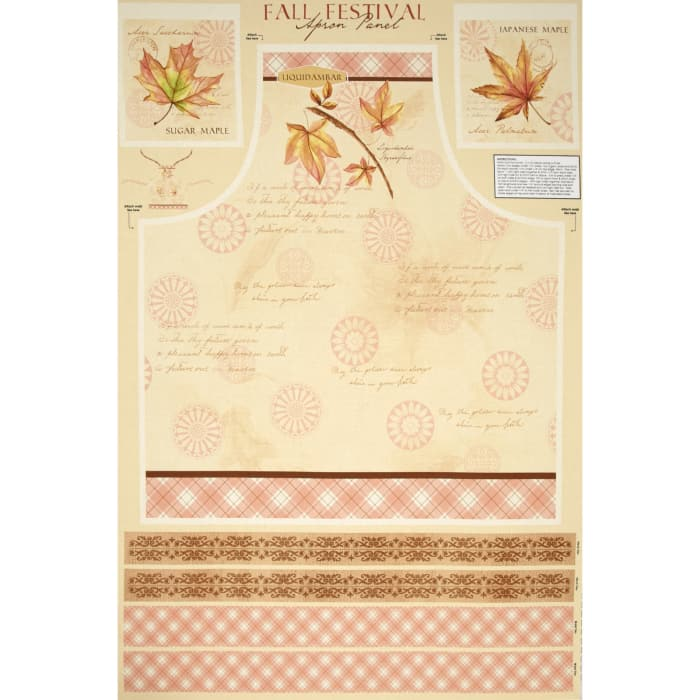 Fall Festival Apron Panel Multi