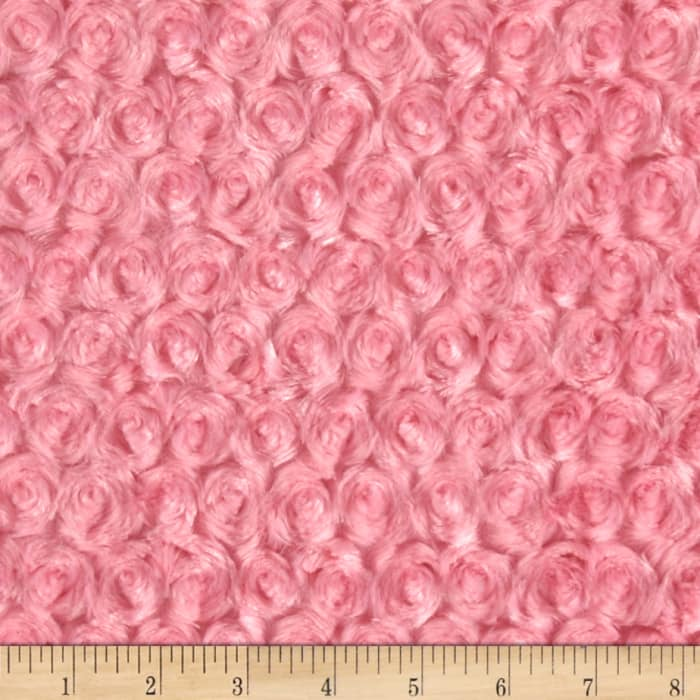 Shannon Minky Rose Cuddle Paris Pink