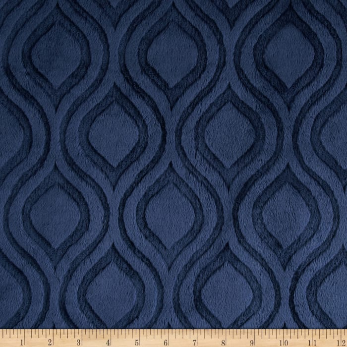 Shannon Premier Prints Embossed Marquise Cuddle Navy