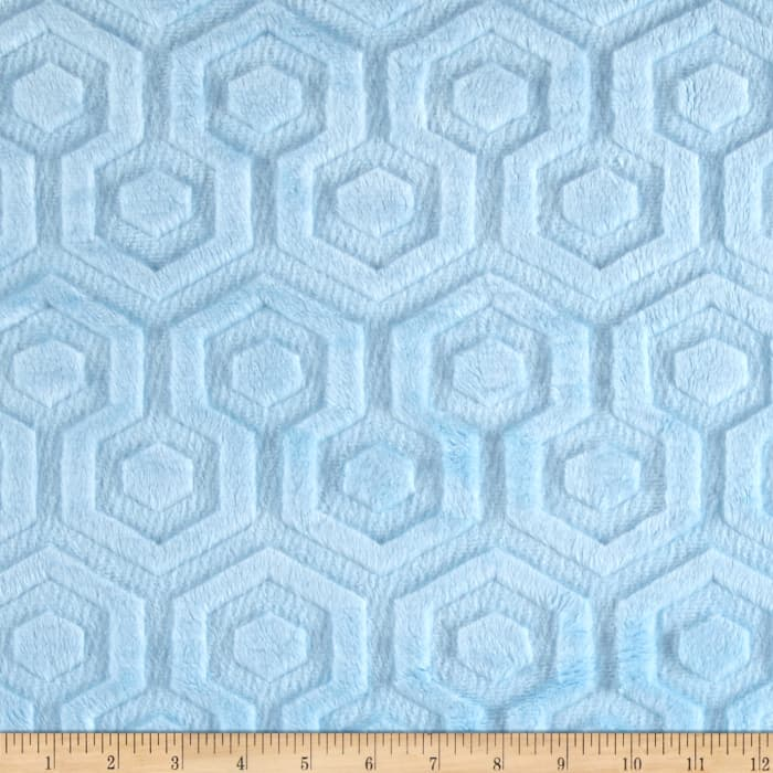 Shannon Premier Prints Embossed Geo Cuddle Baby Blue