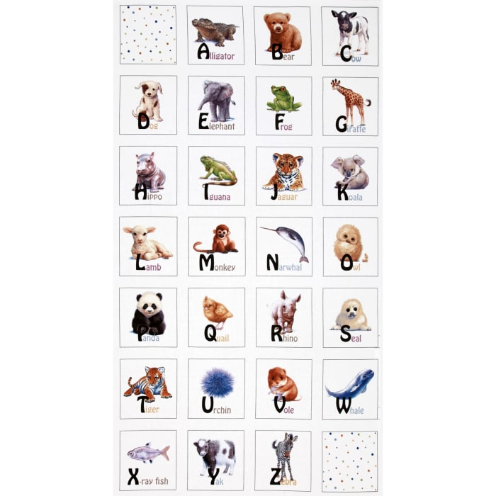 Animal Friends Soft Book 24 In. Panel White