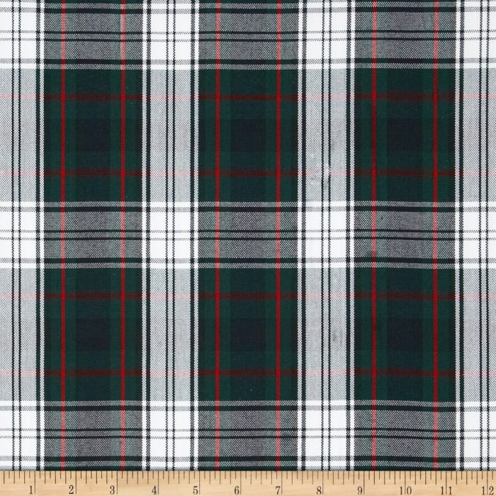 Polyester Uniform Plaid Red/Green/White