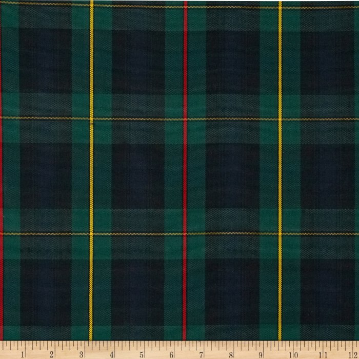 Polyester Uniform Plaid Red Green Yellow Discount