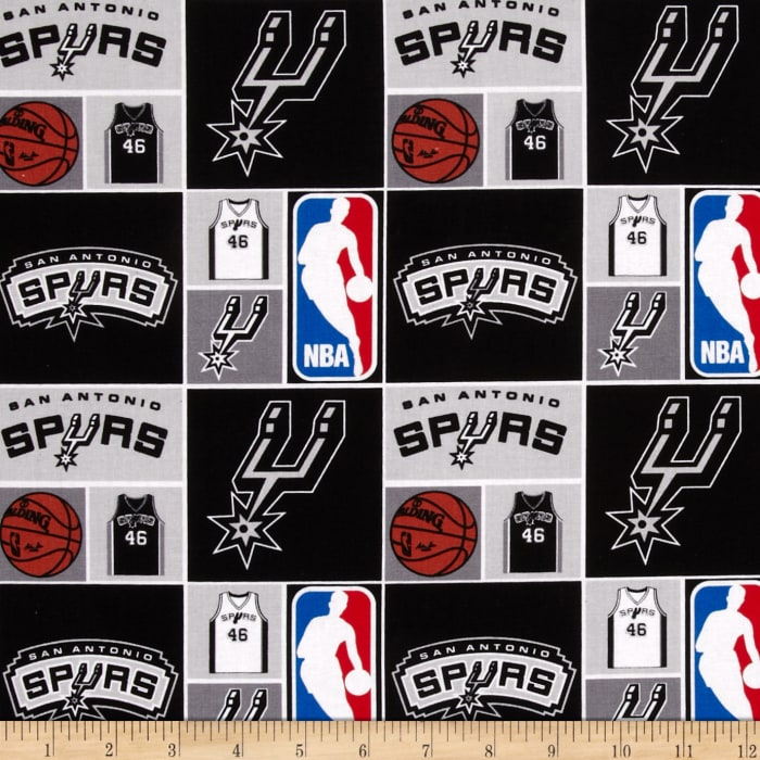 NBA Cotton Broadcloth San Antonio Spurs Patch