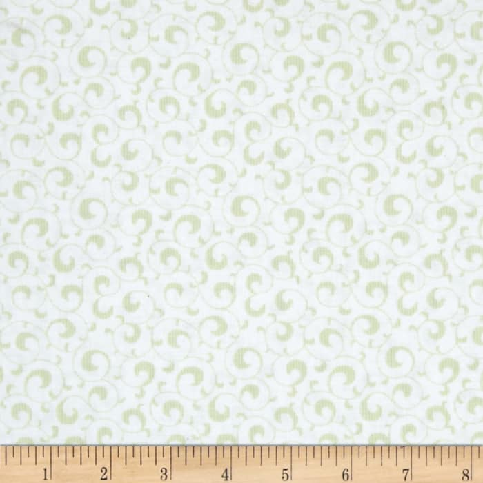 Symphony Rose Scroll Light Green