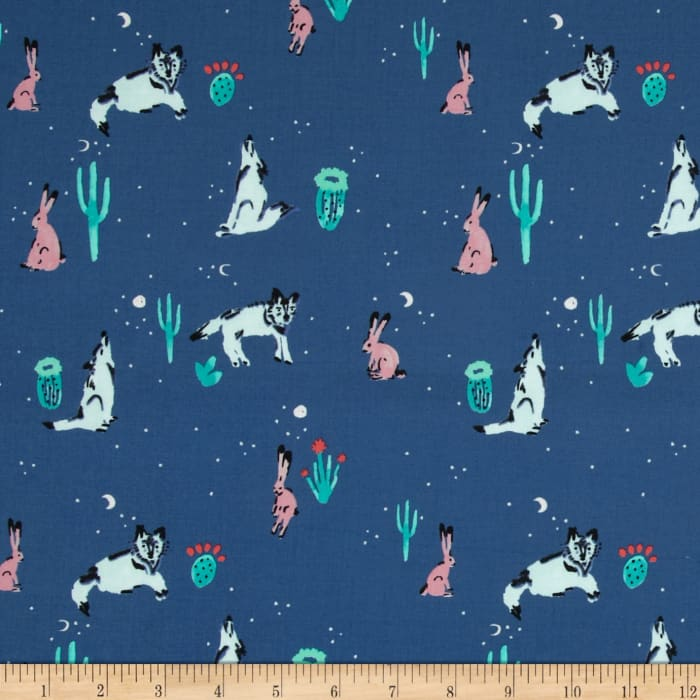 Cotton + Steel Mesa Spirit Animal Navy
