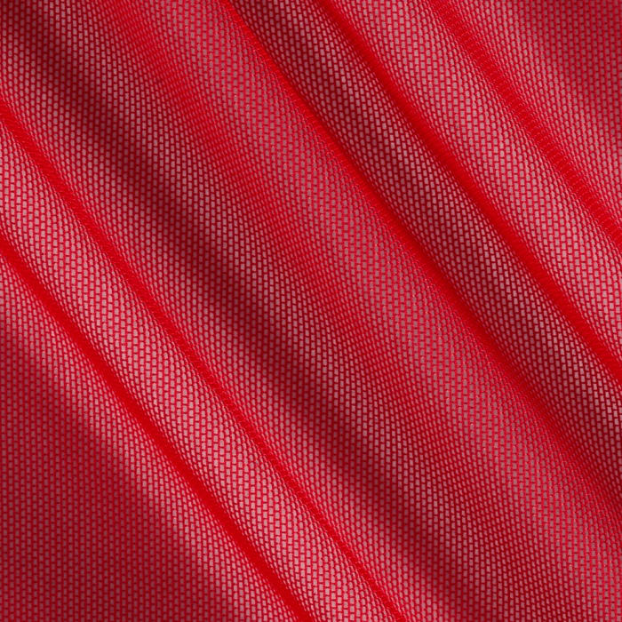 Spandex Stretch Illusion Shaper Mesh Red