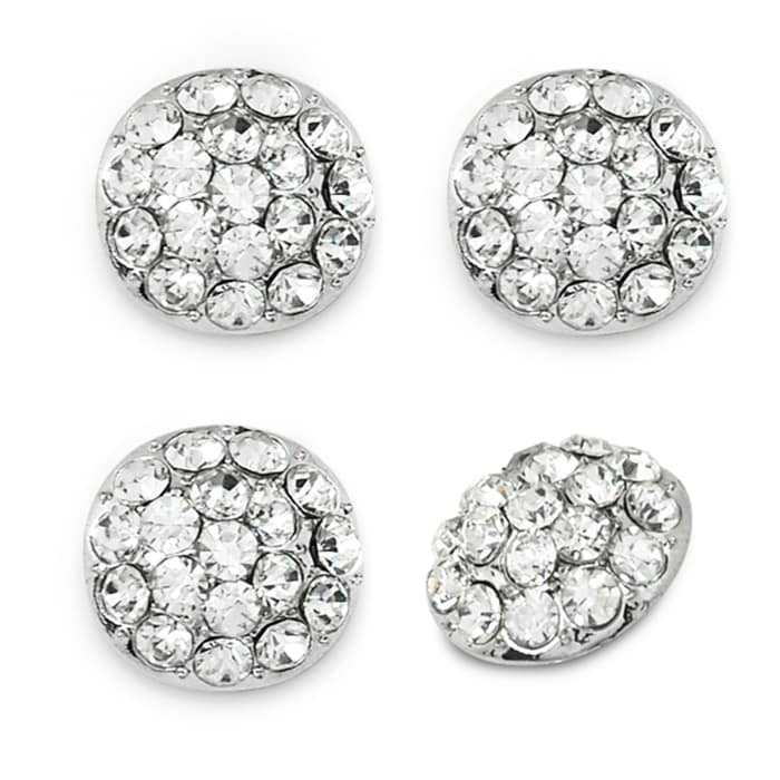 1.7cm Glass Rhinestone Button 4 PK
