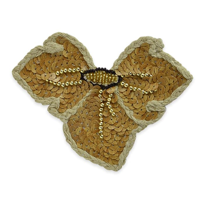 "4 3/4 x 3 1/2"" Elephant Ears Applique Natural"