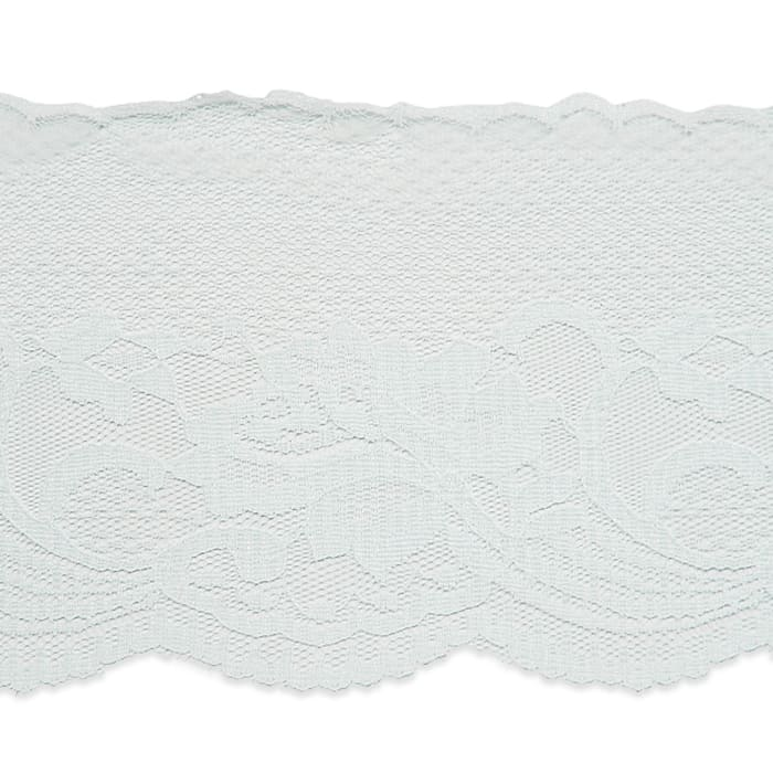 "4 1/2"" Penelope Chantilly Lace Trim White"