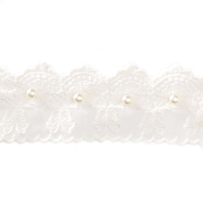 """2"""" Vintage Roses with Bow Lace White"""