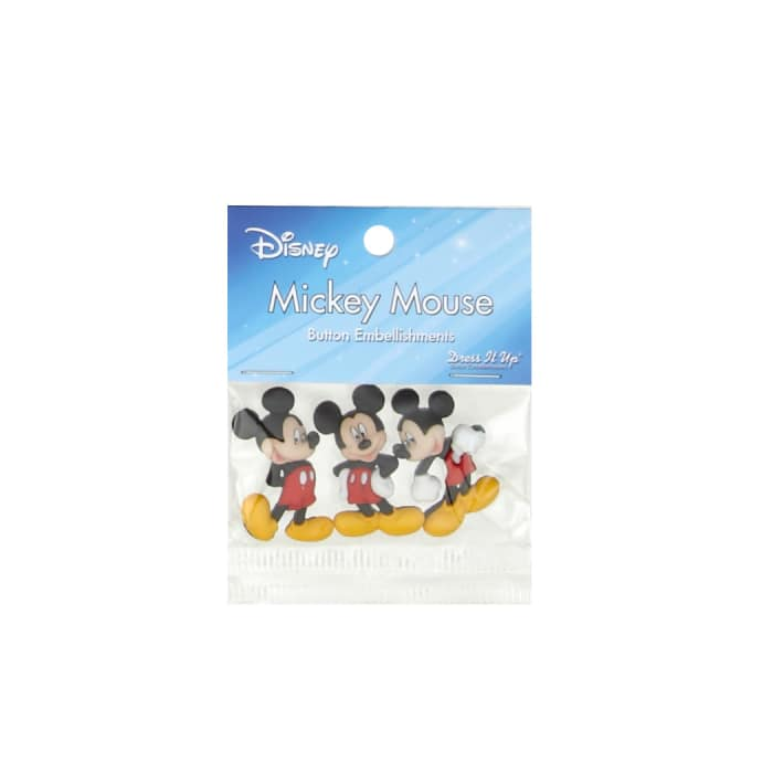 Dress It Up Disney Mickey Mouse Button