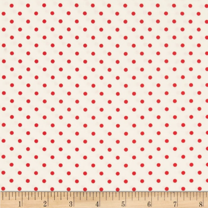 Timeless Treasures Dots Cherry