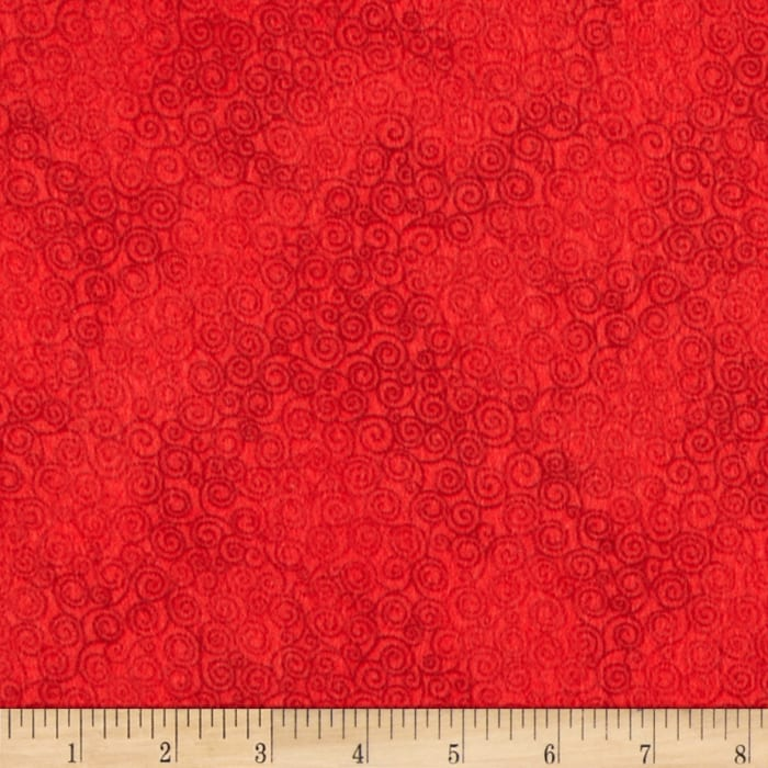 Timeless Treasures Jazz Flannel Red