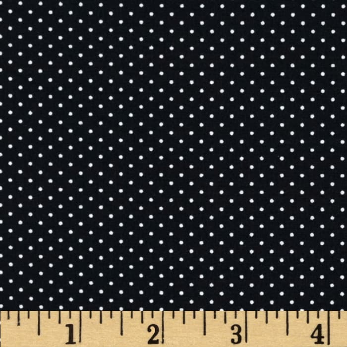 Telio Morocco Blues Stretch Poplin Pindot Ebony/White