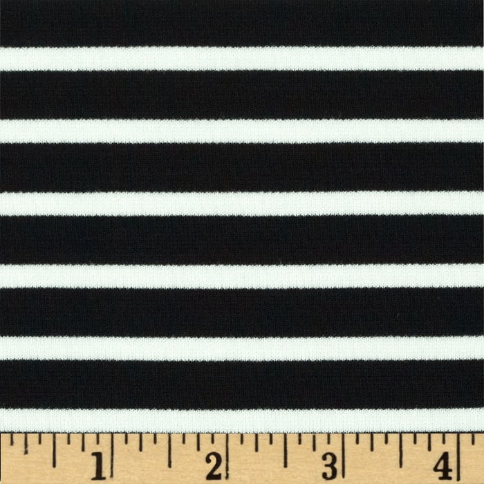 Telio St. James Stripe Double Knit Ecru/Black