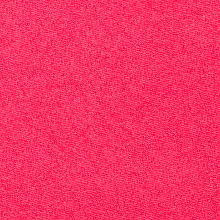 Stretch Rayon Bamboo French Terry Knit Hot Pink