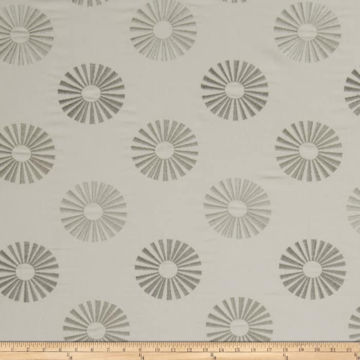 Jaclyn Smith 02619 Embroidered Carthage Dove Gray