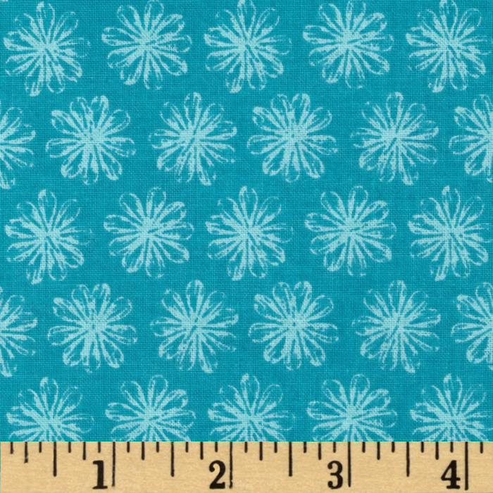Mallowway Small Floral Turquoise