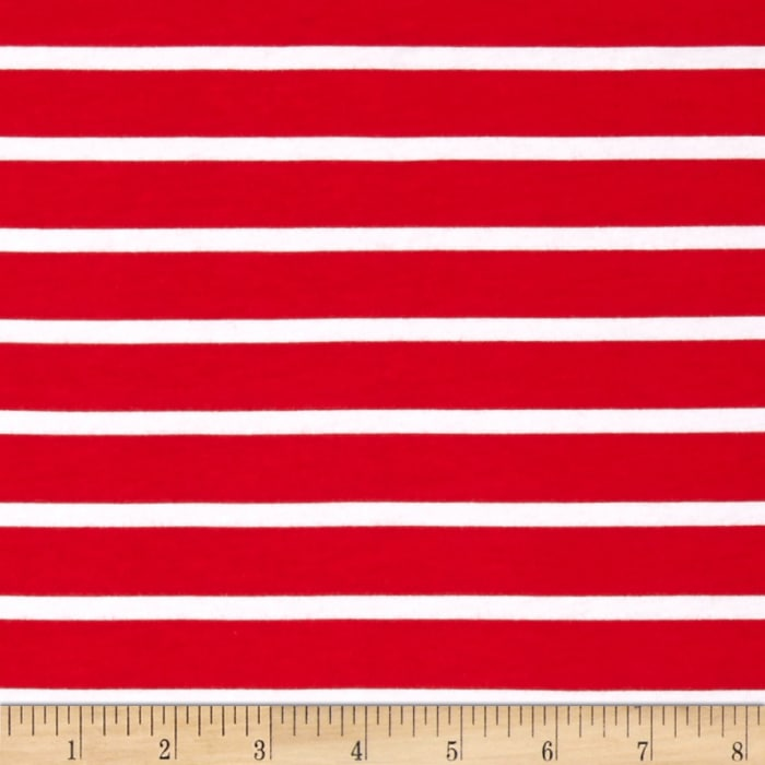 Riley Blake Knit Stripe Red