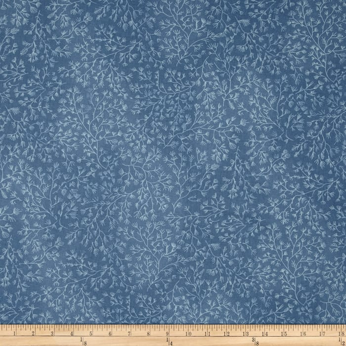 110 In. Wide Quilt Back Blue/Cream