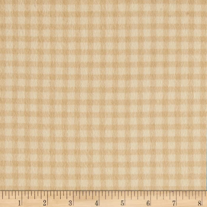 Timeless Treasures Tailormade Flannel Check Cream