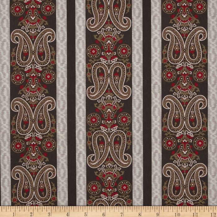 Border Companions Americana Paisley Brown/Red