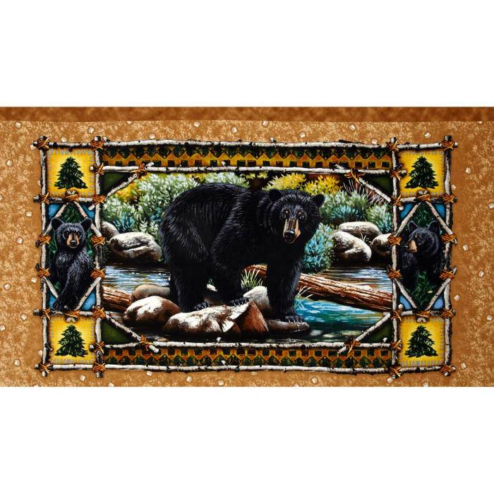Bear Country 24 In. Panel Brown