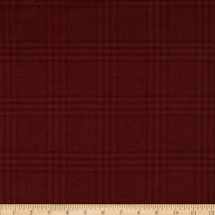 Primo Plaids Flannel Christmas II Large Plaid Tonal Red