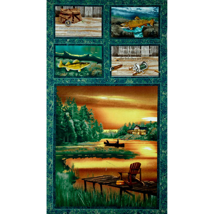 Lakeside Reflections 24 In. Lake Panel Multi