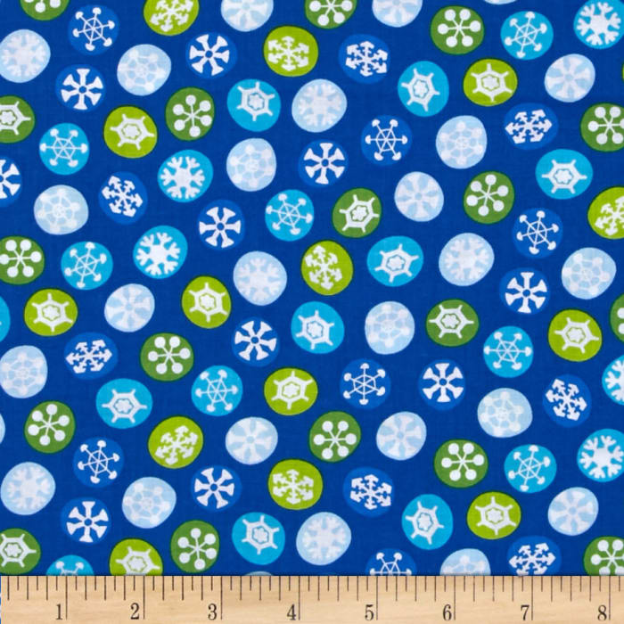 Silly Snowman Snowflakes Royal Blue