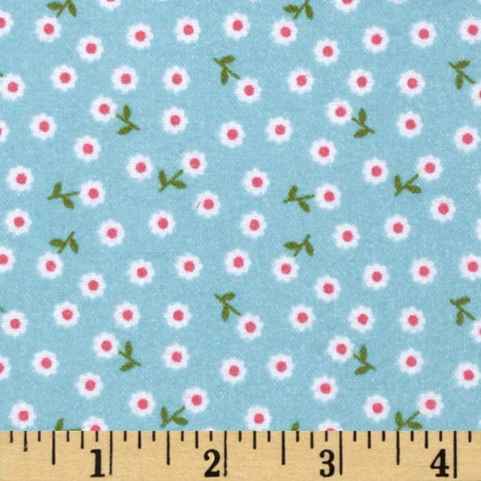 Riley Blake Summer Song 2 Flannel Petals Blue