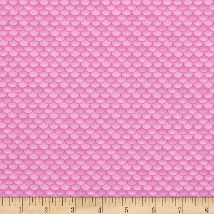Little Mermaids Fish Scales Pink