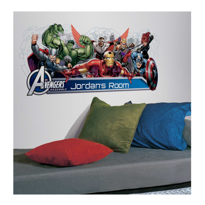 Avengers Assemble with Headboard Wall Decal
