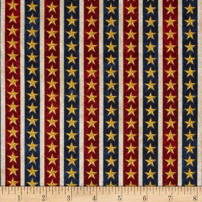 Stonehenge Land of the Free Stars Navy/Red/Gold/Beige