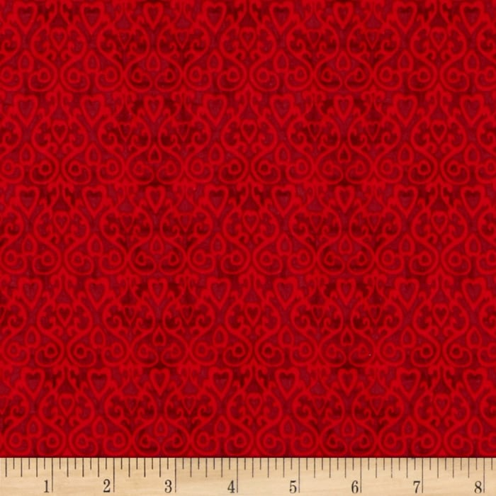 The Cardinal Rule Heart Damask Red