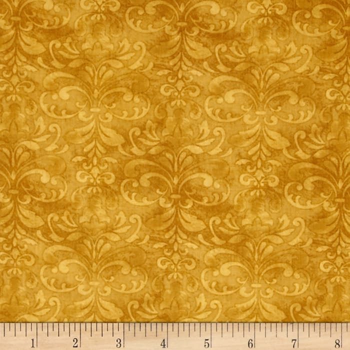 A Ticket in Hand Damask Gold