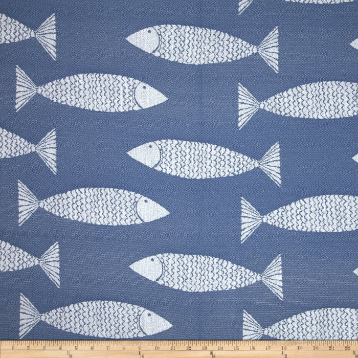 P kaufmann indoor outdoor jacquard catch my drift nautical for Purchase fabric by the yard