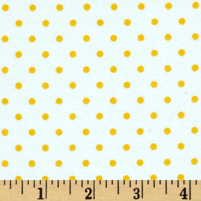 Kaufman Cozy Cotton Flannel Small Dot Sunrise