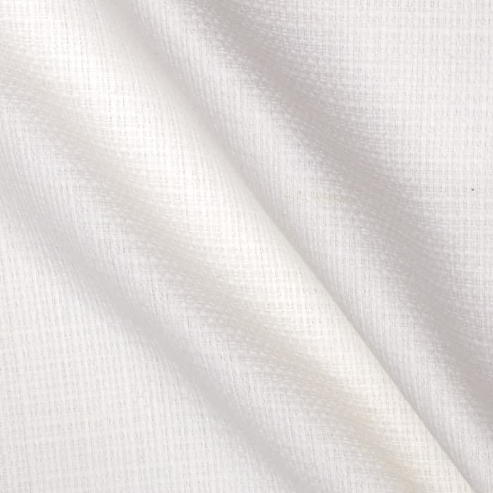 Kaufman Raw and Very Refined Linen Blend Dobby White 9.5 oz.