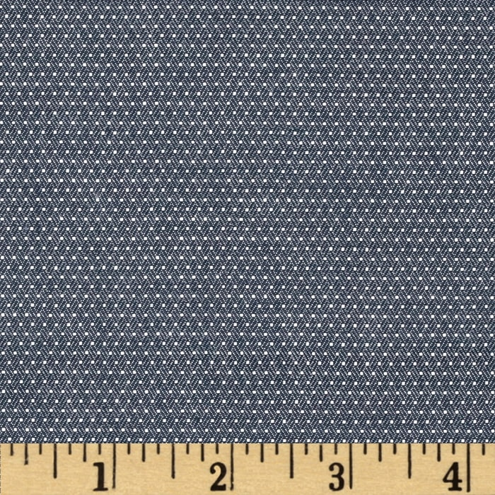 Kaufman Cotton Chambray Pin Dots Indigo