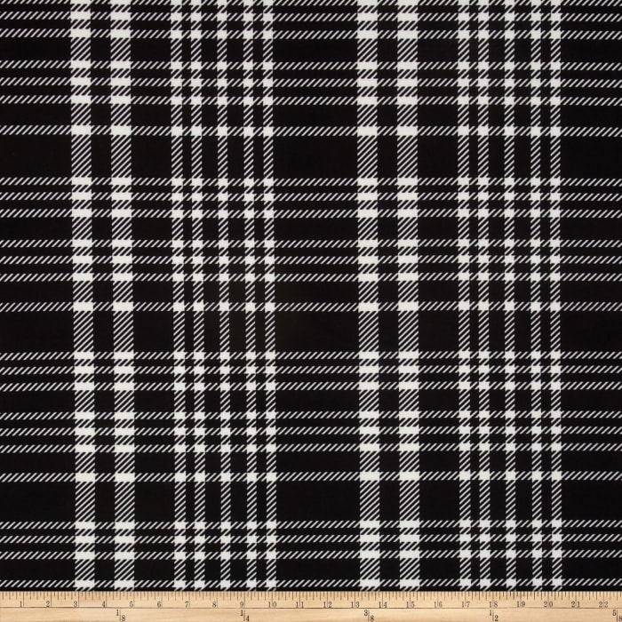 Ponte de Roma Large Plaid Black/Ivory
